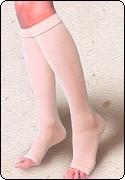 瑪茲桑彈性襪-西德棉露趾加強型小腿襪(歐洲原裝進口)
